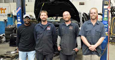 Bruce Auto Parts Support Staff Dismantling